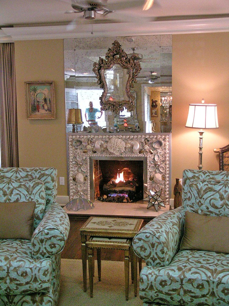 Seashell Inspiration Custom Fireplaces Chandeliers More Sally Lee By The Sea
